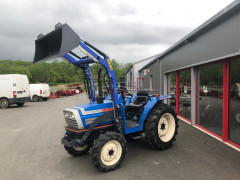 MICRO TRACTEUR D'OCCASION ISEKI TA250 + CHARGEUR COCHET