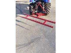 Rateau scarificateur 1m50 double rang + chassis + chappe
